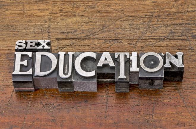 sex education in metal type
